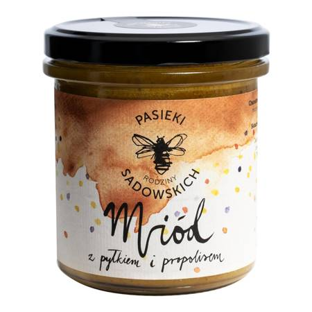 Miód z pyłkiem i propolisem 430g